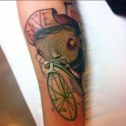 gruenes-Fahrrad